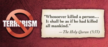 Whosoever killed a person...It shall be as if he had killed all mankind. --Qur'an 5.33
